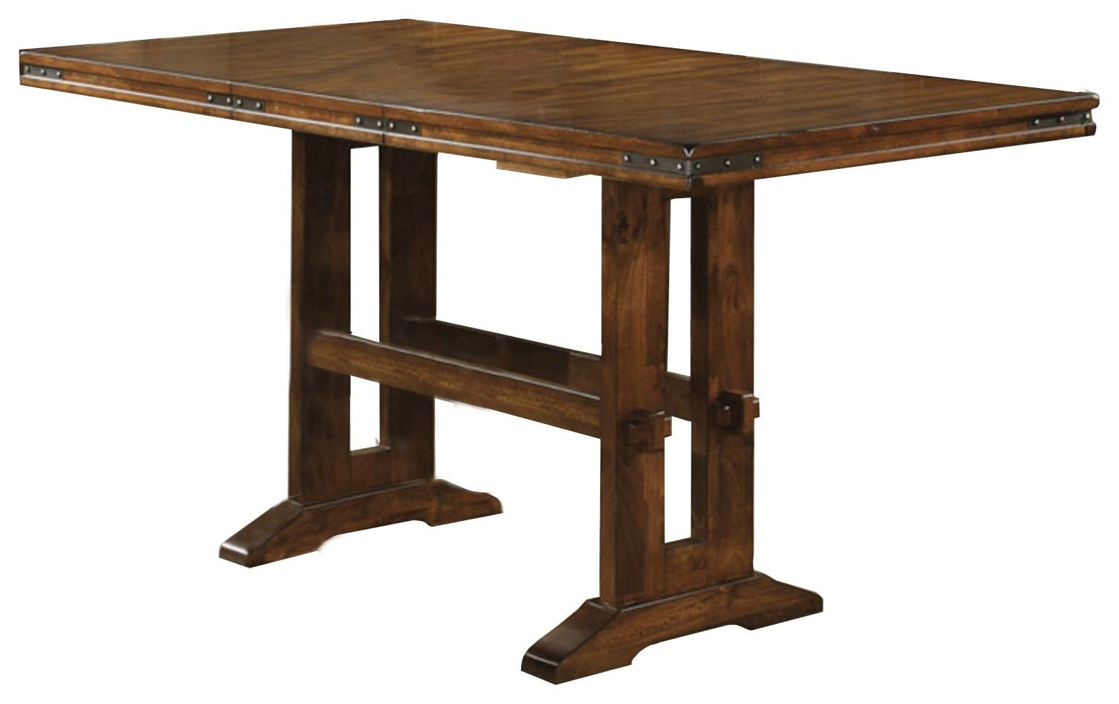 Tall Trestle Table at Sadler's Home Furnishings
