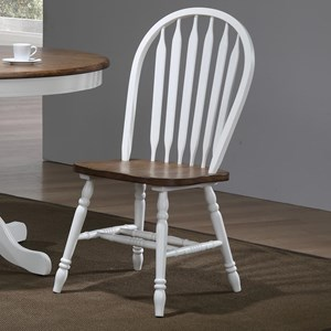 Two Tone Arrow Back Side Chair