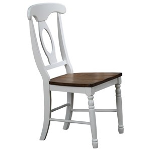Napoleon Side Chair with Wood Seat