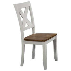 X Back Farmhouse Dining Side Chair