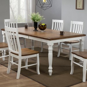 """78"""" Dining Table with 18"""" Butterfly Leaf"""