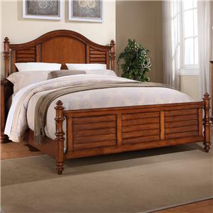 King Panel Bed with Turned Feet