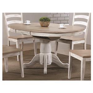 "57"" Pedestal Table"