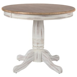 "Rustic 36"" Pedestal Table"