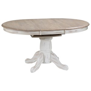 "Rustic Oval Dining Table with 15"" Butterfly Leaf"