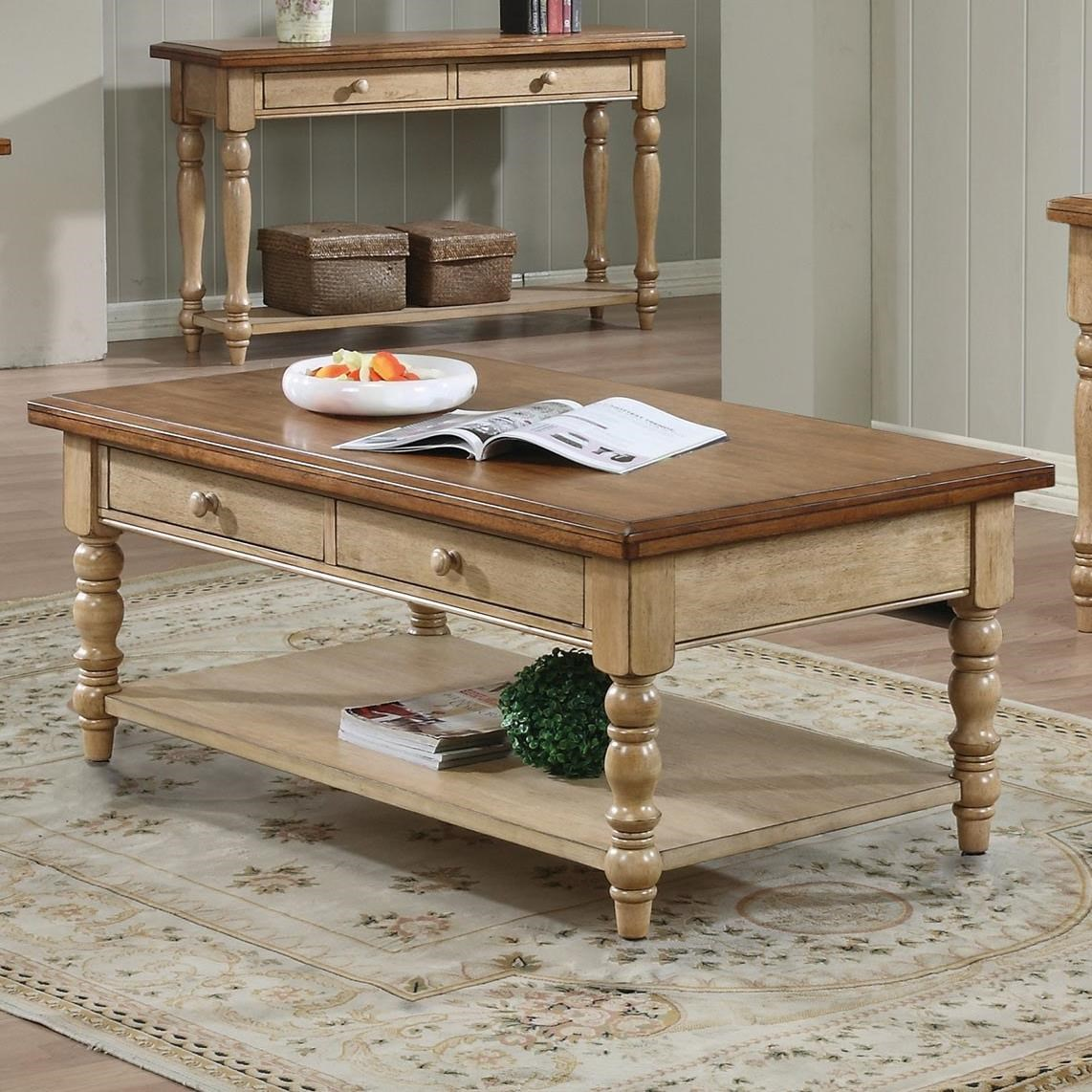 Quails Run Cocktail Table by Winners Only at Mueller Furniture