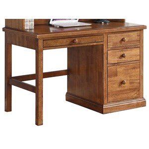 Transitional Desk with Top Felt-Lined Drawer