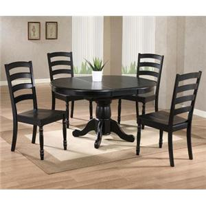 Winners Only Quails Run 5 Piece Round Table and Chair Set
