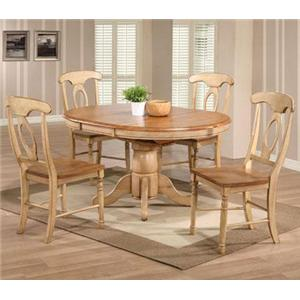 5 Piece Round Table and Napoleon Chair Set