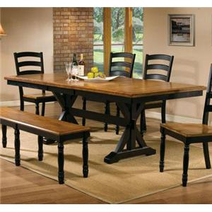 """Winners Only Quails Run 84"""" Dining Table"""