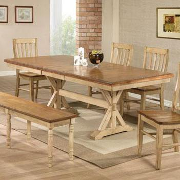 """Quails Run 84"""" Dining Table by Winners Only at Dunk & Bright Furniture"""