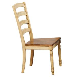 Transitional Ladderback Side Chair