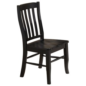 Transitional Side Chair with Slat Back