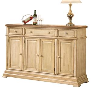 Transitional Sideboard with 4 Doors