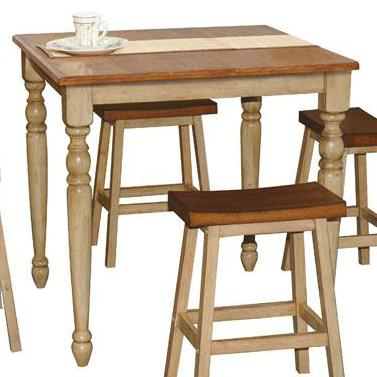 """Quails Run 36"""" Square Tall Table by Winners Only at Mueller Furniture"""