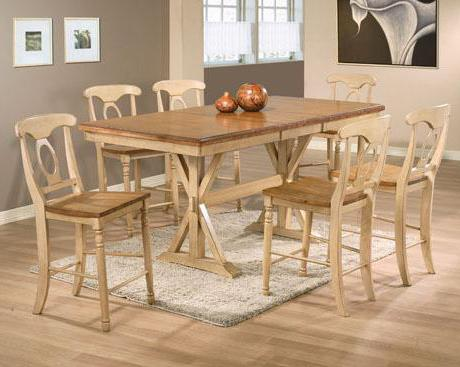 Quails Run 7 Piece Tall Table with Barstools by Winners Only at Mueller Furniture