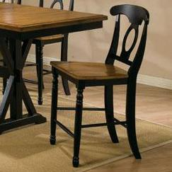 Quails Run Napoleon Barstool by Winners Only at Mueller Furniture