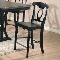 Quails Run Napoleon Barstool by Winners Only at Dunk & Bright Furniture