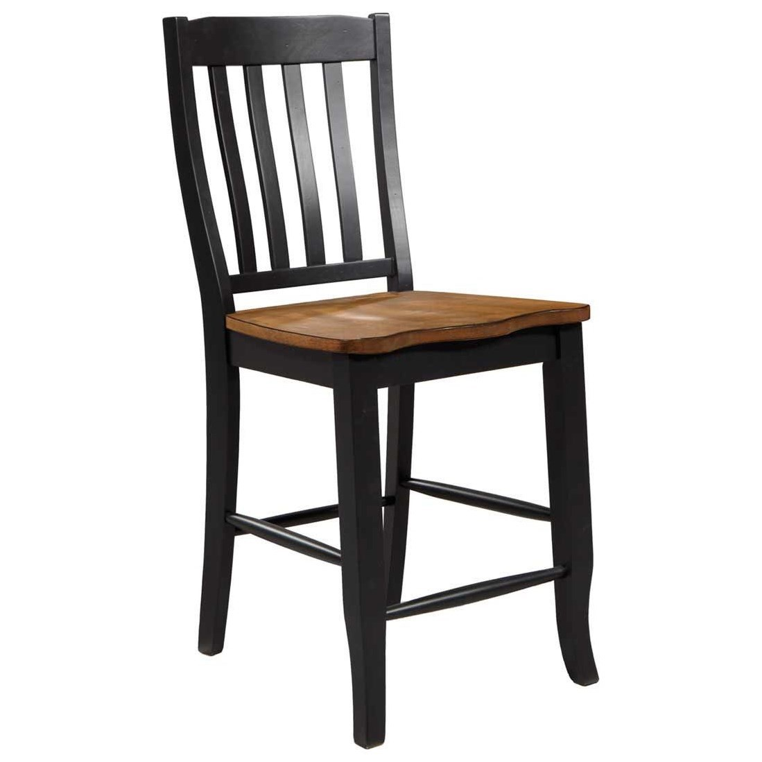 Quails Run Slat Back Barstool by Winners Only at Crowley Furniture & Mattress