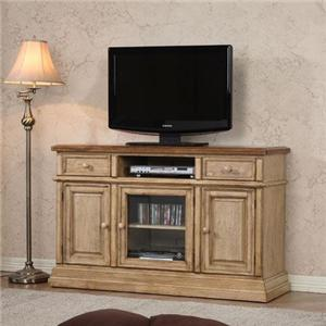 """54"""" Transitional Media Base with 3 Doors and 2 Drawers"""