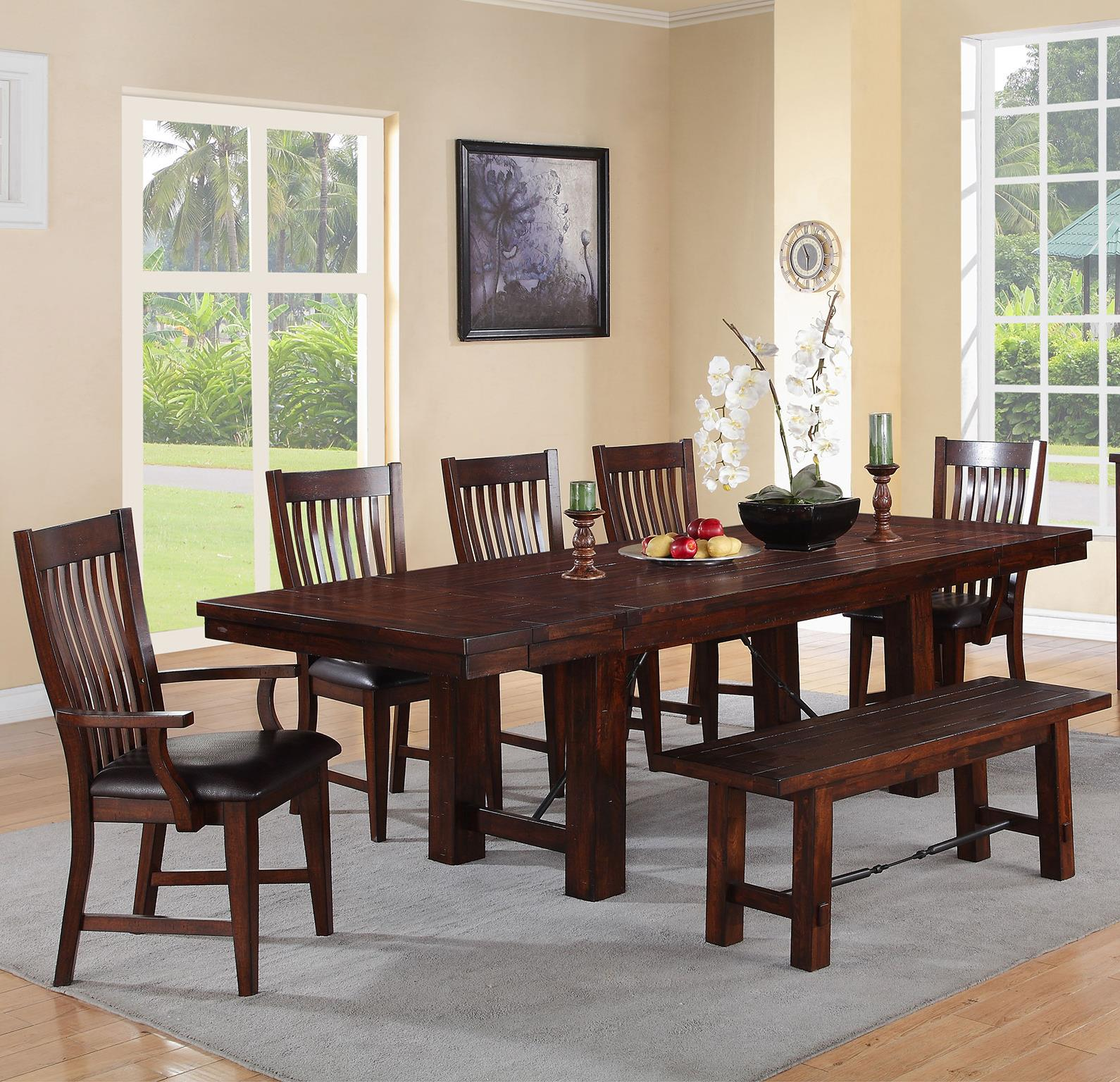 Retreat 7-Piece Dining Set with Bench by Winners Only at Pilgrim Furniture City