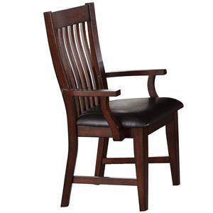 Winners Only Retreat Slat Back Arm Chair