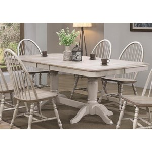 Farmhouse Trestle Table with Butterfly Leaves