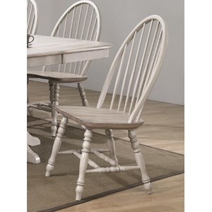 Farmhouse Windsor Side Chair with Spindle Back