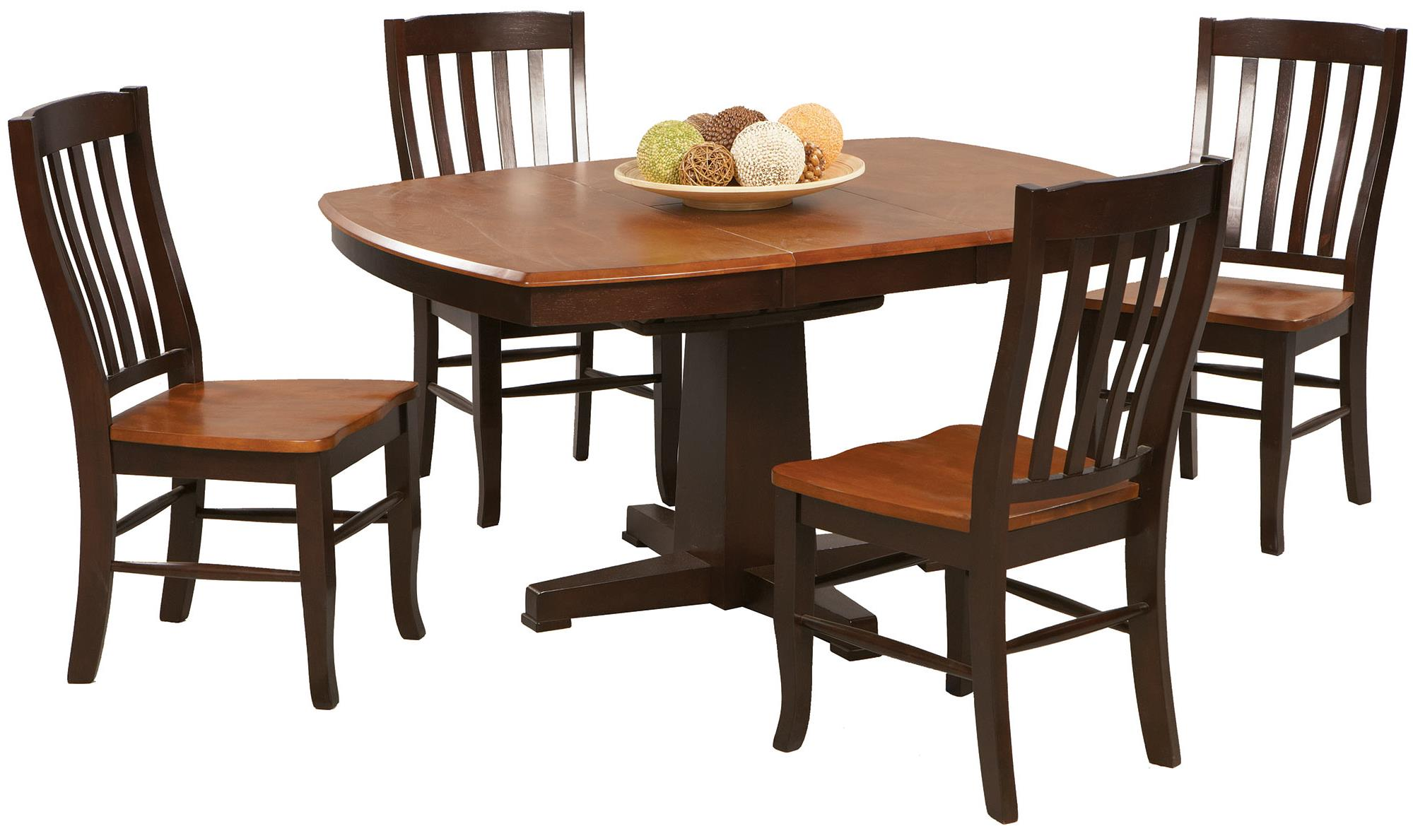Santa Fe - Chestnut/Espresso Dining Set by Winners Only at Crowley Furniture & Mattress