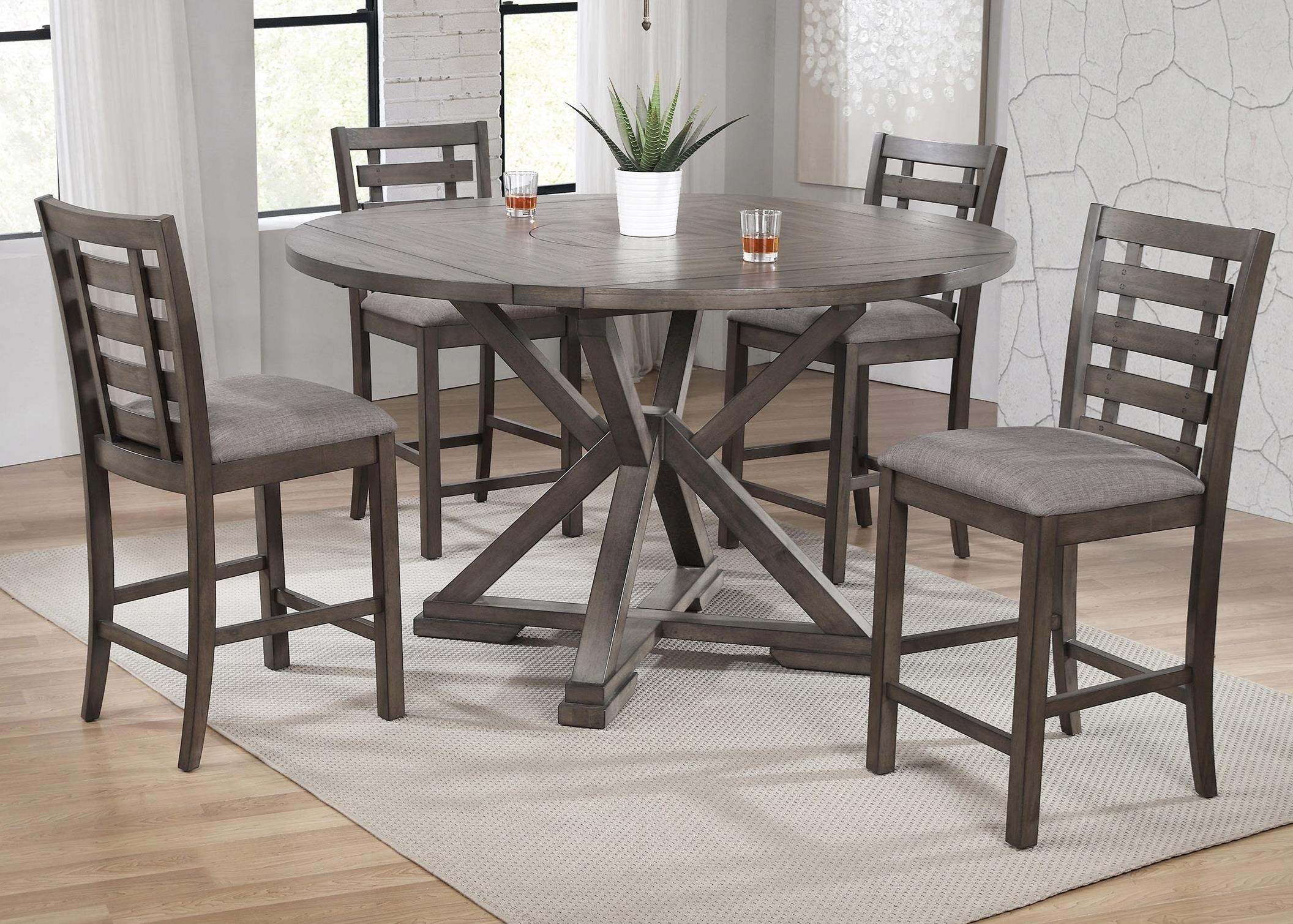 Stratford 5-Piece Counter Height Dining Table Set by Winners Only at Crowley Furniture & Mattress