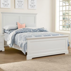 Queen Panel Bed with USB Ports