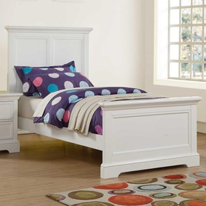 Twin Panel Bed with USB Port