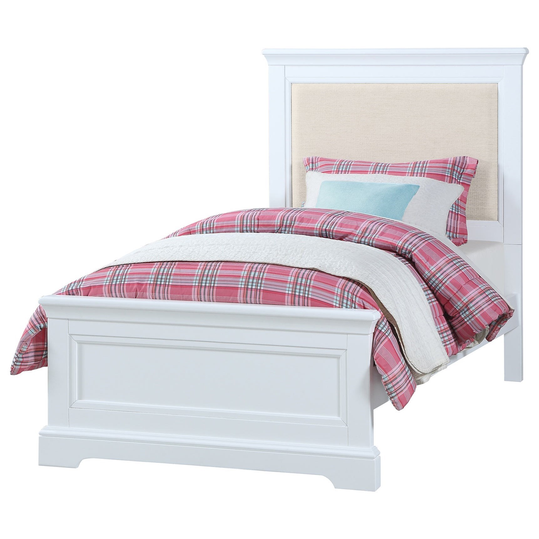 Tamarack Twin Upholstered Bed by Winners Only at Gill Brothers Furniture