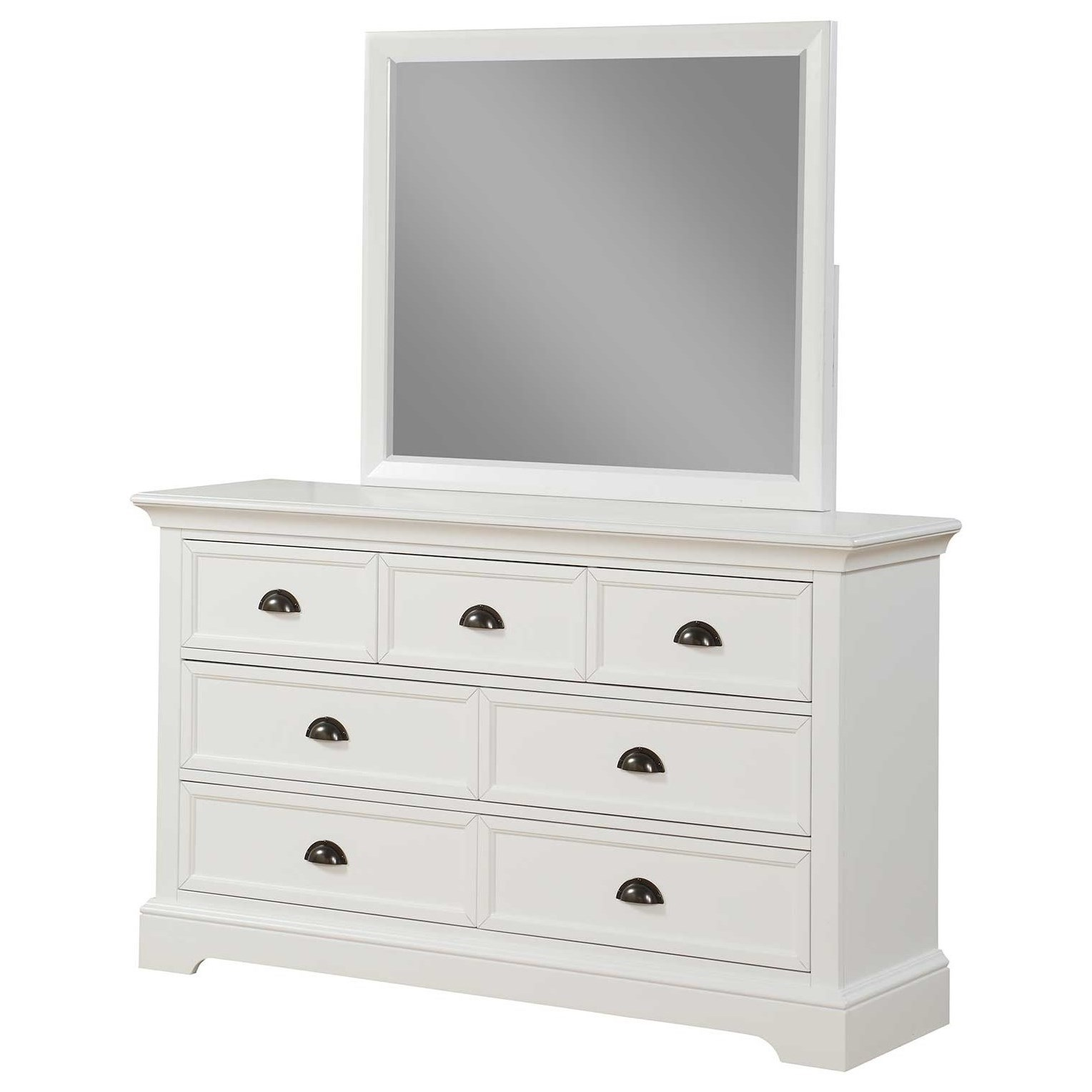 Tamarack Dresser and Mirror Set by Winners Only at Crowley Furniture & Mattress