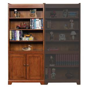 "72"" Open Bookcase with Doors"