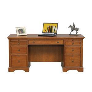 "66"" Flat Top Double Pedestal Desk"