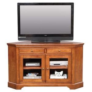 "55"" Corner Media Base with Storage"