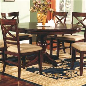 "66"" Pedestal Table with One 18-inch Butterfly Leaf"
