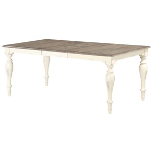 "Casual Rectangular Dining Table with 18"" Butterfly Leaf"