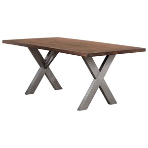 Contemporary X-Base Dining Table