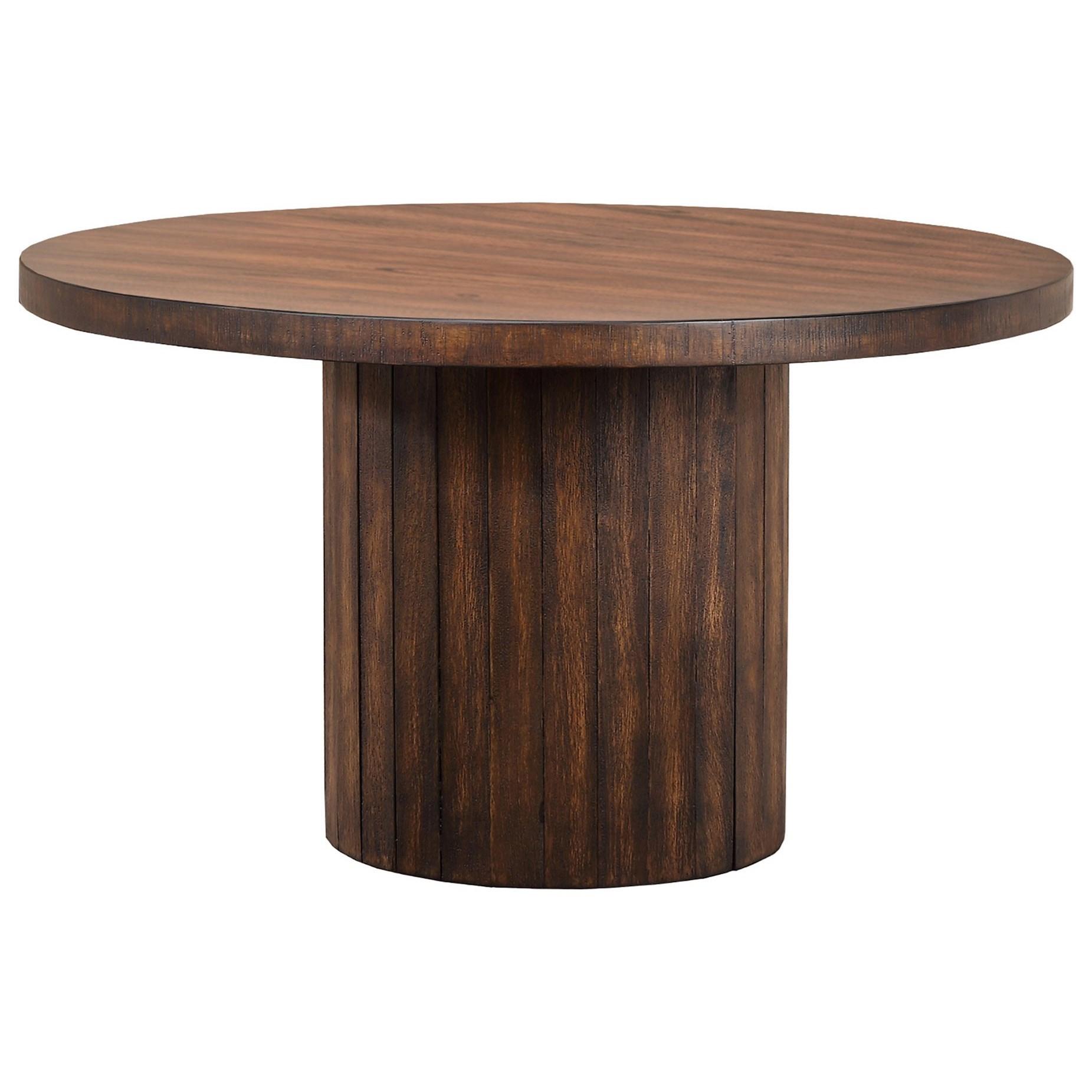 Round Barrel Base Table