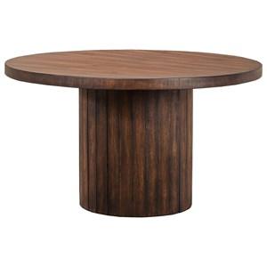 Contemporary Round Barrel Base Table