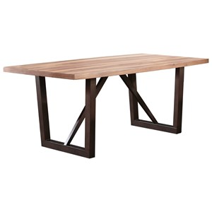 Contemporary Rectangular Dining Table with Trestle Base