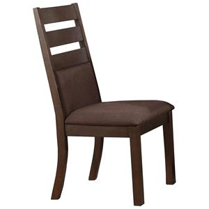 Cushioned Ladder Back Side Chair