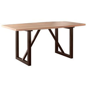 Contemporary Counter Height Table with Trestle Base