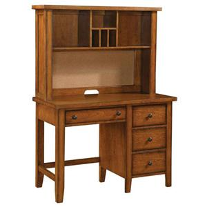 Youth Single Pedestal Desk & Hutch