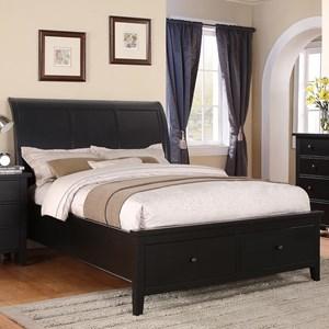 California King 2-Drawer Storage Bed