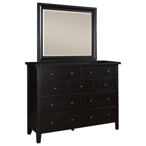9-Drawer Dresser & Mirror