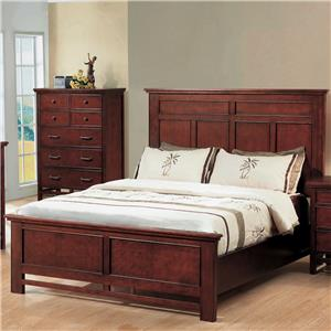 Queen Panel Bed with Stretchers