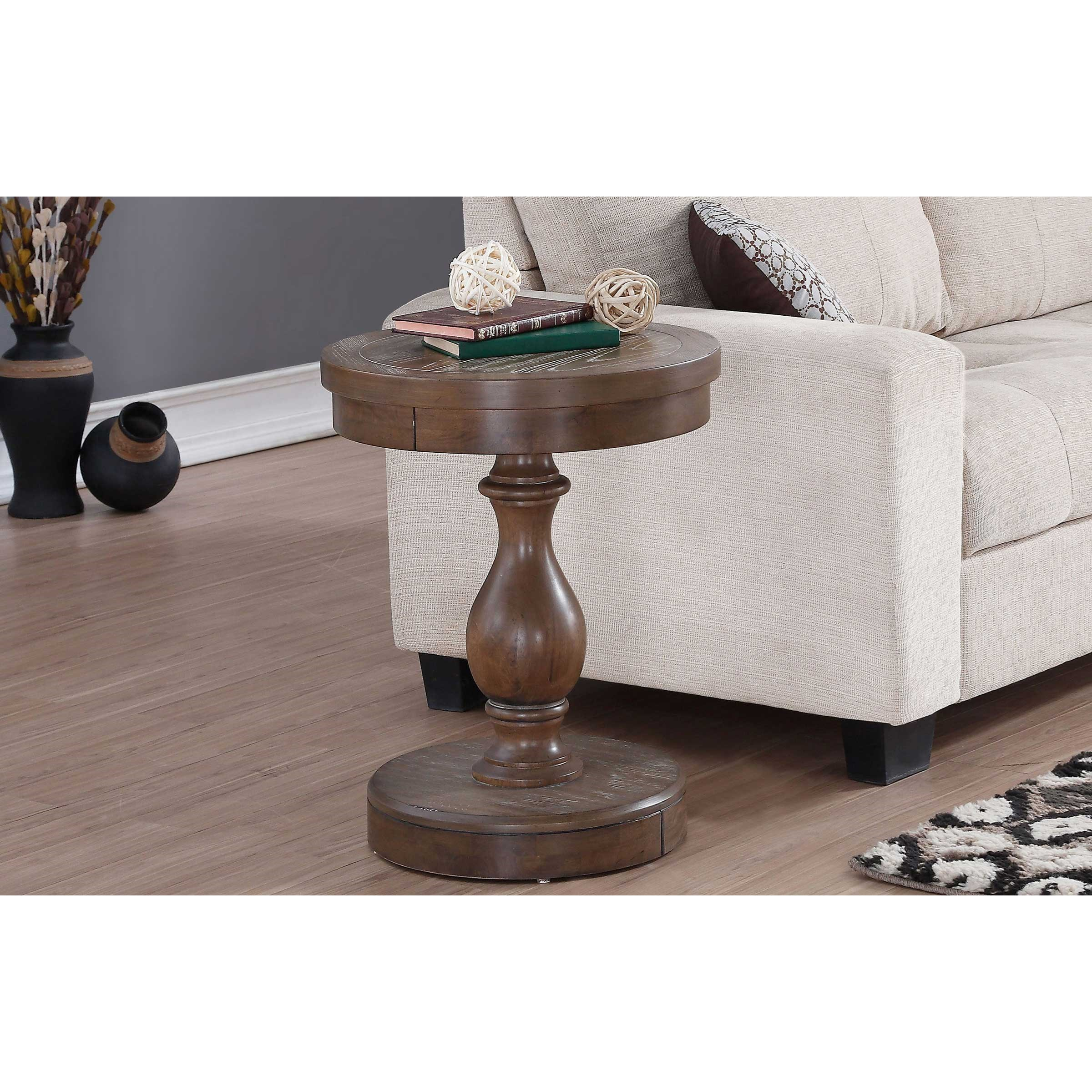 Xcalibur Round End Table by Winners Only at Simply Home by Lindy's